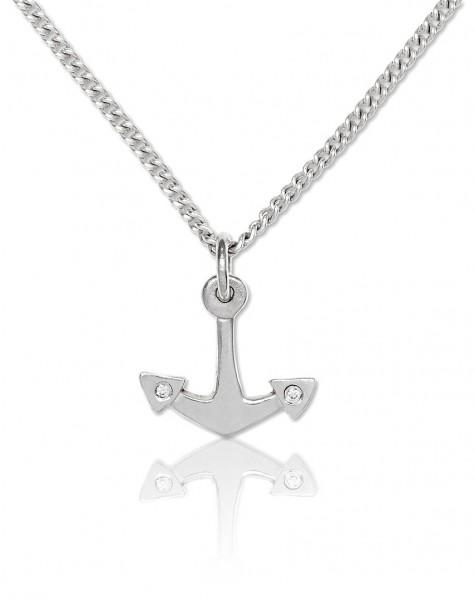 Unserer Silberkette mit Anhänger Anker passt perfekt zu deinem maritimen aber auch zum rockigen Outfit!