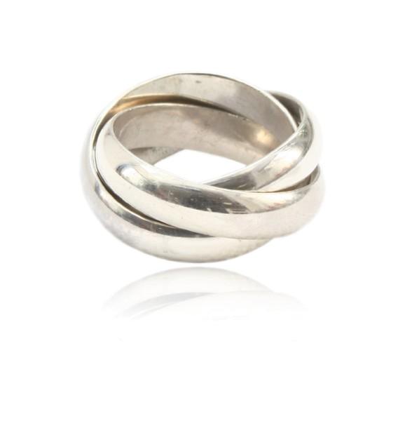 Cooler Dreifachring aus Silber - perfekt fuer dein Business Outfit, einfach online kaufen im Schmuckshop.
