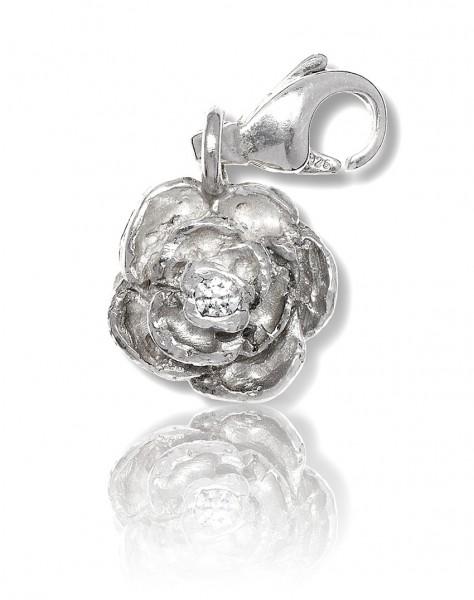 Der Silber Charm Rose ist das perfekte Geschenk fuer Frauen mit einer Leidenschaft fuer Bettelarmbaender!