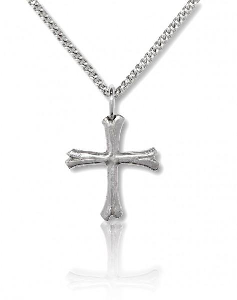 Lässige Variante einer Kette mit Kreuz aus Knochen fuer echte Seeraeuberinnen