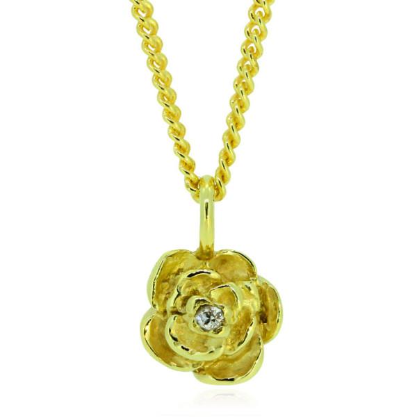 edle Kette Rose aus 750 Gelbgold von Trendklunker online bestellen