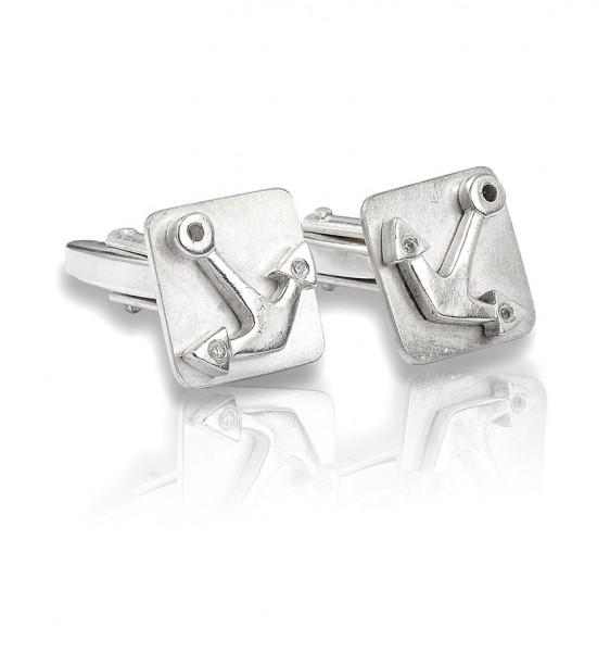 Unsere Silber Manschettenknöpfe mit Anker sind stylisch und edel und handgemacht in Deutschland.