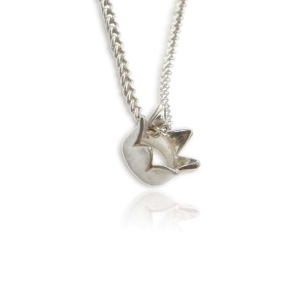 Suesser Anhaenger Kroenchen Krone aus Silber an einer Silberkette für deinen stylischen Ganztageslook!