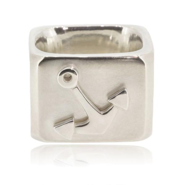 Ring aus massivem Silber mit einem Anker für deinen maritimen Look für Segler und Yacht Liebhaber