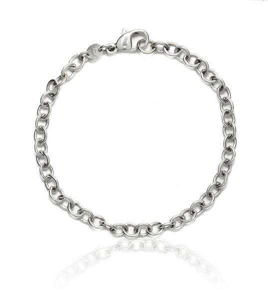 Schönes Silberarmband als Grundlage für dein selbst zusammengestelltes Bettelarmband im Trachtenstyle.